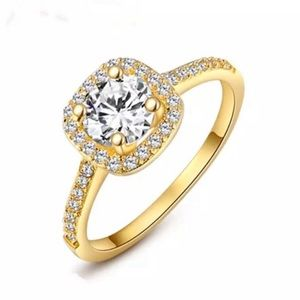 Jewelry - NEW - Gold Engagement Ring In Halo Setting